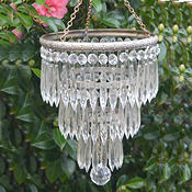 Edwardian 3 Tier Icicle Chandelier with silver plated period cast brass frame