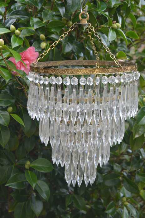 Edwardian 4 Tier Icicle Chandelier