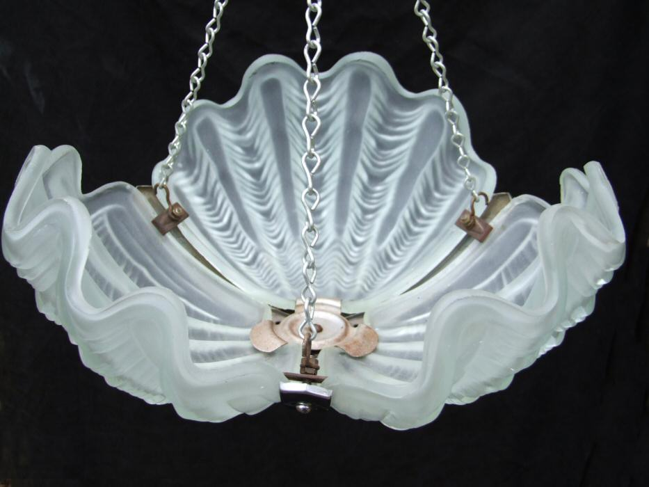 Deco Opaque Shell Ceiling Light