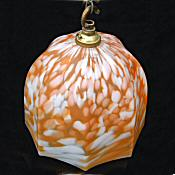 Art Deco Mottled Tangerine Ceiling Light