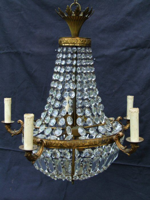 Stunning 5 arm Sac a Perles Chandelier