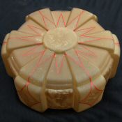 Art Deco Geometric Amber Ceiling Light