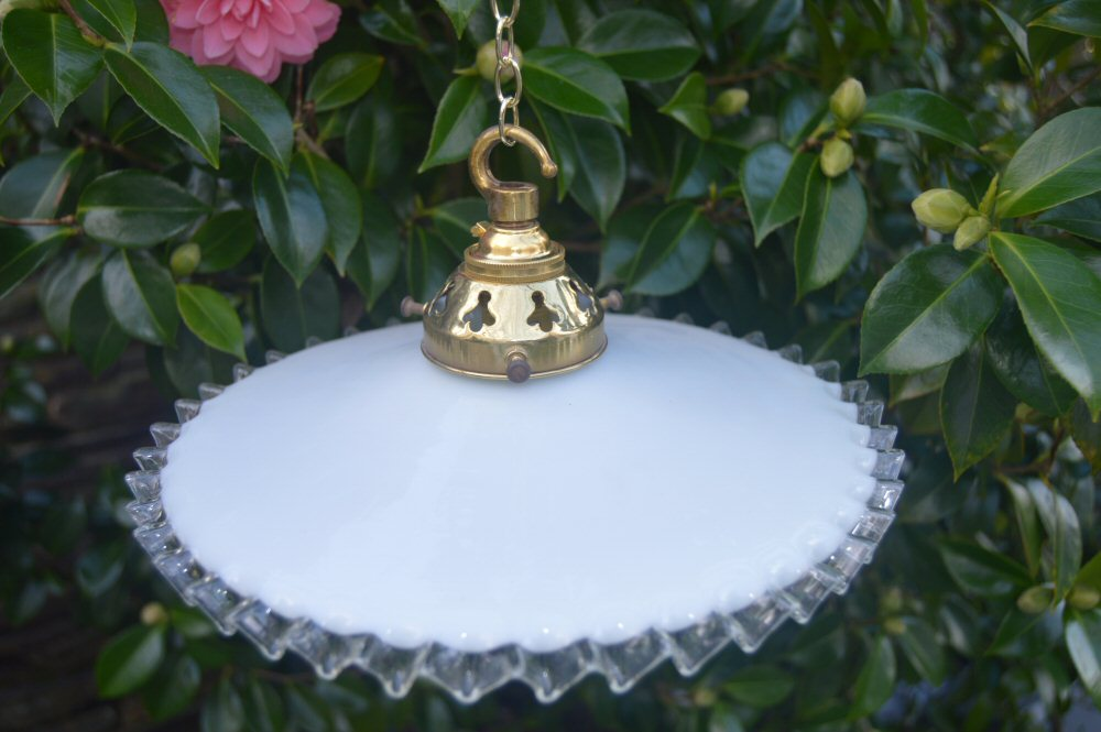 Pretty Vintage White Milk French Farmhouse shade