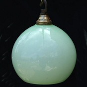 Small Pepermint Green Globe Ceiling Light