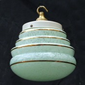 Art Deco Aquamarine Mottled Honeycomb ceiling light