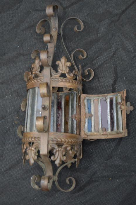 Gorgeous Petite Cylindrical Late Victorian Wrought Iron Lantern