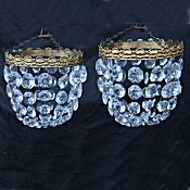 Pair of Small Mid 20th Century Purse Chandeliers