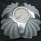 Art Deco 4 Shell Opaque Ceiling Light