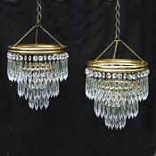Pair of matching chandeliers