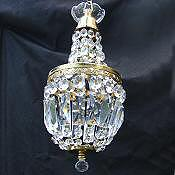 Petite Mid 20th Century Empire Style Chandelier