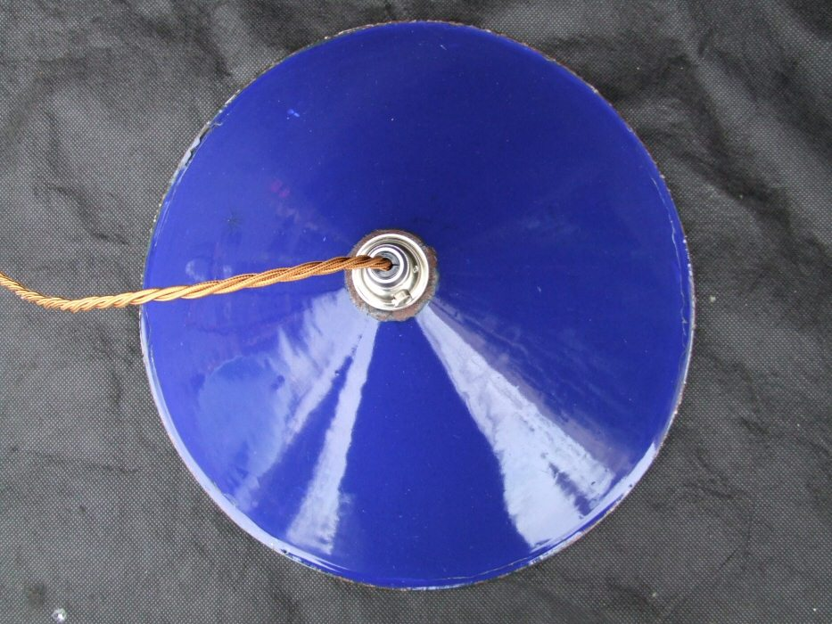 Edwardian Blue Enamel Ceiling Light