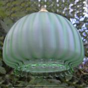 Circa 1920 Green fluted ceiling light