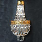 Very Large Crystal Purse Wall Light
