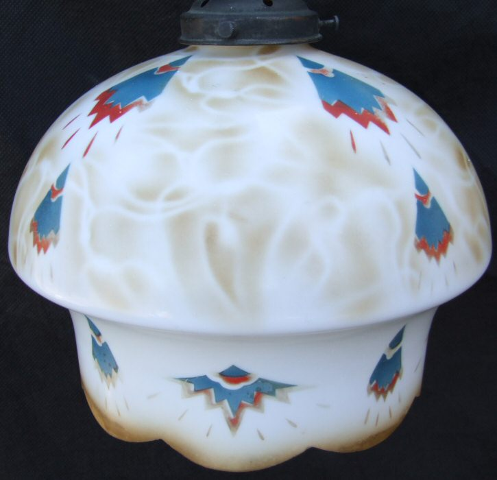 Unusual Art Deco Ceiling Light with Geometric patterns