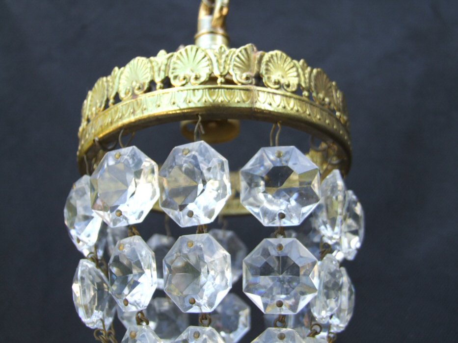 Tiny Mid 20th Century Purse Chandelier
