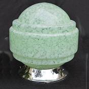Mottled Soft Green Art Deco Globe Ceiling Light