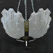 Art Deco Opaque Ceiling Light