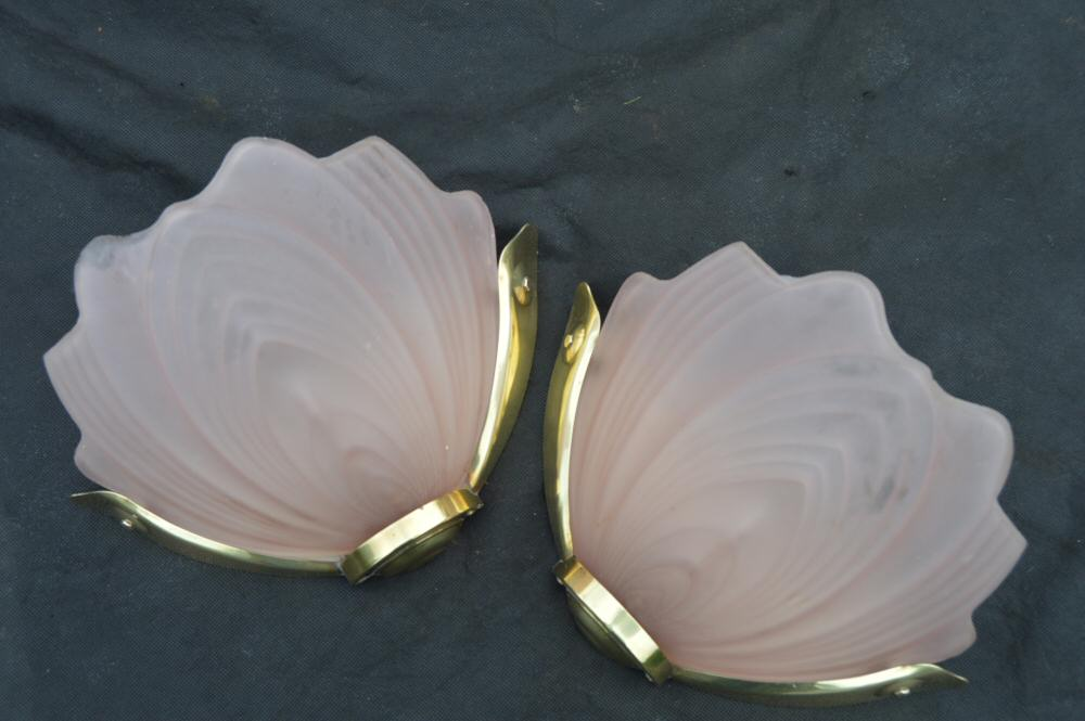 oft Pink Art Deco Petal Wall Lights