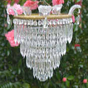 Mid 20th Century 4 Tier Icicle Chandelier