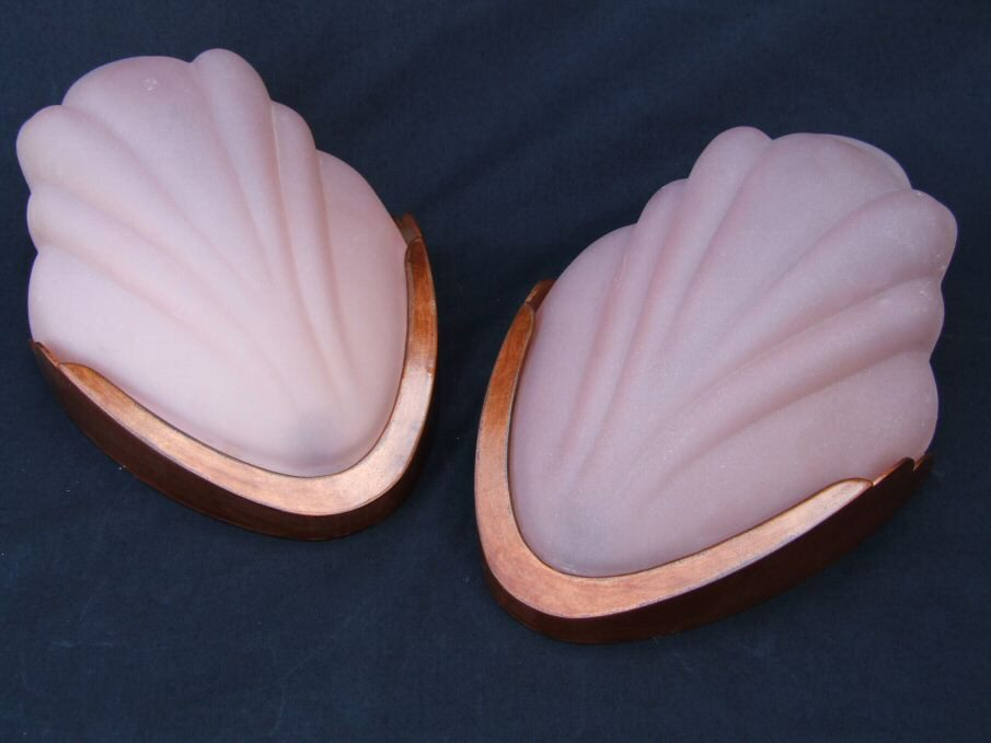 Pair of Art Deco Pink Wall Lights
