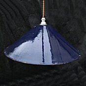 Edwardian Dark Blue Enamel Ceiling Light