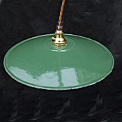 Edwardian Enamel Green Ceiling Light