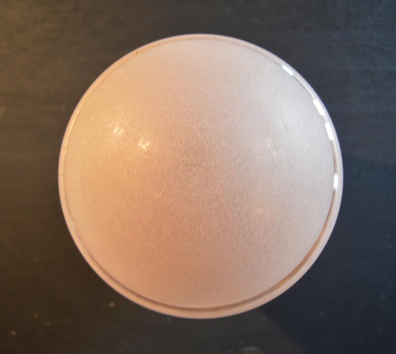 Pretty Frosted Pink Custard Art Deco Globe Ceiling Light