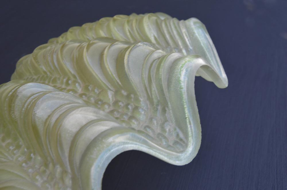 Pair of Sage Green Art Deco Shell Wall Lights