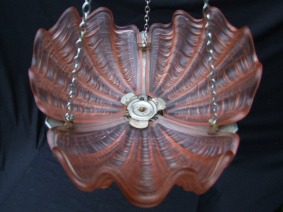 Deco Soft Pink Shell Ceiling Light