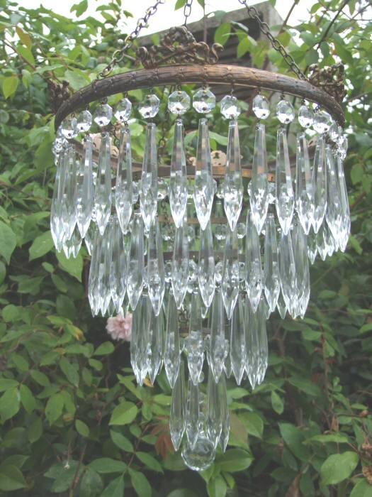 Circa 1930, A Large 4 Tier Icicle Drop Chandelier