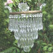 A Beautiful Mid 20th Century 3 Tier Icicle Drop Chandelier