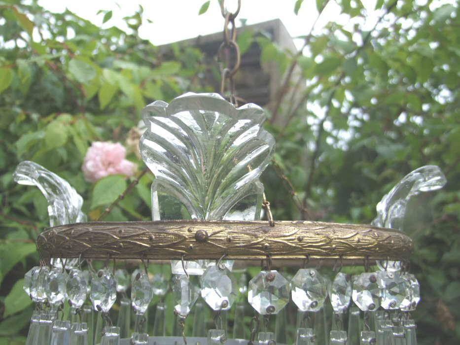A Beautiful Mid 20th Century 3Tier Icicle Drop Chandelier