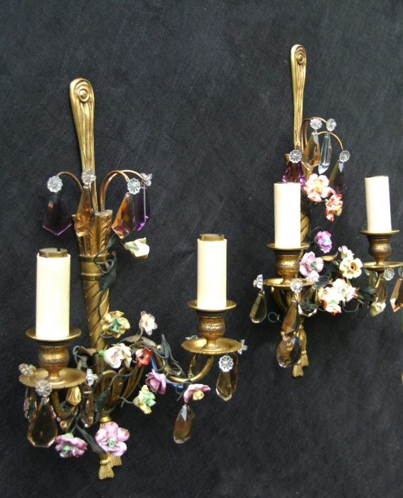 Stunning Pair of Early 20th Century Decorative Wall Lights