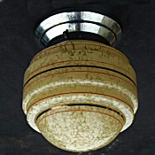 Mottled Lemon Art Deco Globe Ceiling Light