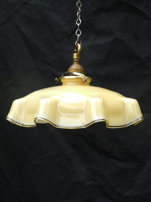 Beautiful Edwardian Butterscotch Coloured Light Shade