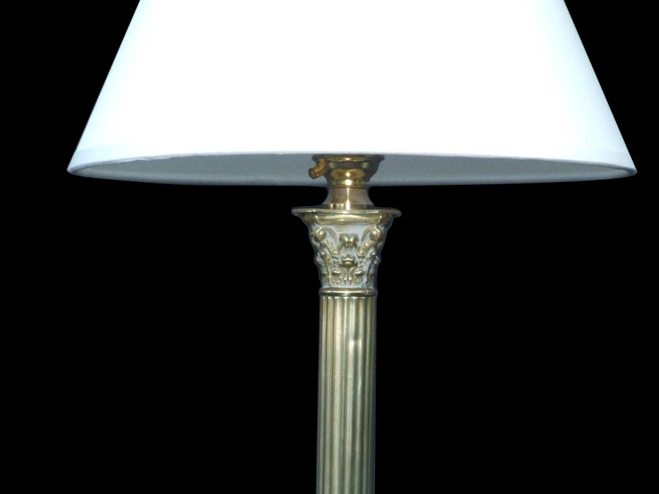 Edwardian Corinthian Column Table Lamp