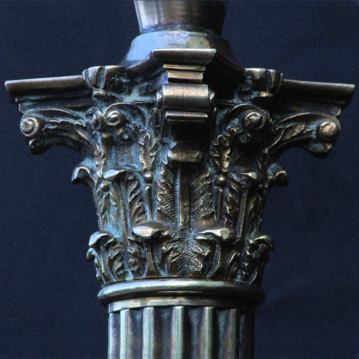 Victorian Corinthian Column Table Lamp